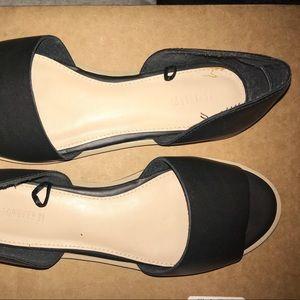 NWOT Black Open-toe flats